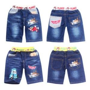Шорты AliExpress 2-7yrs summer boys jeans shorts cotton kids clothing plane denim shorts retail childrens short babys car toon style 636/637 фото