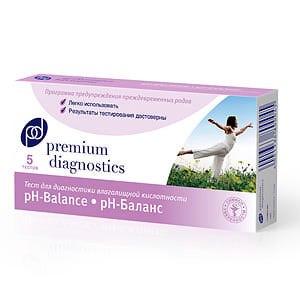 Тест для определения уровня влагалищной кислотности Premium Diagnostics (pH баланса) фото