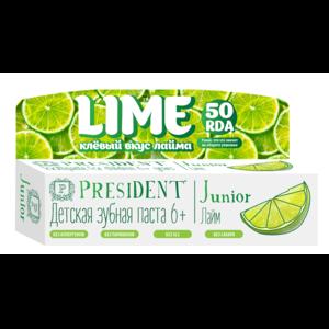 Детская зубная паста PresiDENT Junior Lime 6+ фото