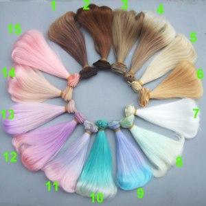 Тресс для создания парика кукле Aliexpress free shipping 15 cm high temperature heat resistant doll hair for 1/3 1/4 1/6 BJD diy doll curly doll wigs фото