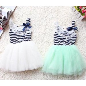 Платье AliExpress 2013 summer fashion new baby girl ball gown dress lace+cotton material 3 colors age 0-2 фото