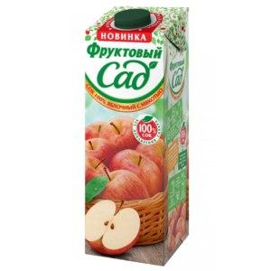Сок Фруктовый сад Яблочный с мякотью фото
