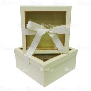 Набор коробок 2в1 КВАДРАТ+окно+лента артикул 17177 СанВест фото