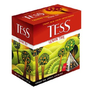 Чай  Tess Lemon Tree (чёрный чай, лимон, апельсин) фото