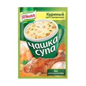 Супы быстрого приготовления Knorr Чашка супа куриный суп с сухариками фото