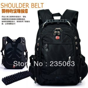 Рюкзак Aliexpress Brand SWISSWIN SWISSGEAR Canvas + Lint 15 inches Backpack/Double Shoulders Bag Outdoor Travel Backpack фото