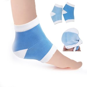 Силиконовые носки Aliexpress 2Pcs Silicone Moisturizing Gel Heel Socks Cracked Foot Skin Care Protectors Kit фото