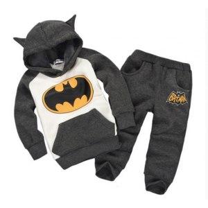 Костюм AliExpress 2014 new autumn winter boy set thermal batman Children Tracksuit kids clothing suit boys and girls hoodie and coat+trousers фото