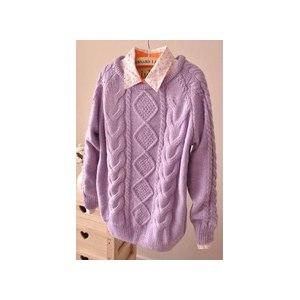 Свитер AliExpress Sweaters 2014 women fashion cardigan new winter large warm size women's sweater cochet hook cute pullover sweaters 6984 фото