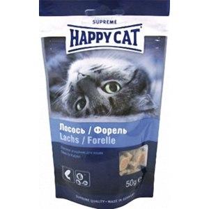 Лакомство для кошек Happy cat Подушечки с лососем и форелью  фото