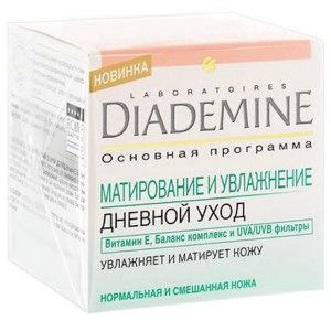"""Крем для лица Diademine для нормальной и комбинированной кожи """"Матирование и увлажнение"""" фото"""