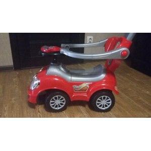 Каталка Baby Care Машина-каталка с родительской ручкой Cute car фото