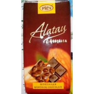 "Шоколад РАХАТ ""Алатау"" с миндалем фото"