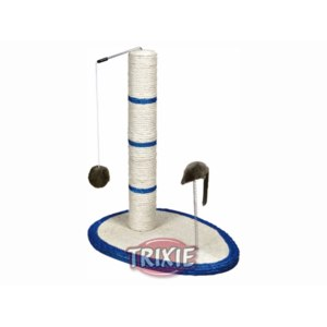 Когтеточка Trixie 4306 столбик с мышкой и шариком фото