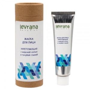 Маска для лица Levrana «Укрепляющая» с розовой морской солью и голубой глиной фото