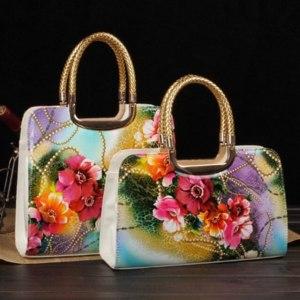 Сумка AliExpress AliExpress Flower Print Japanned Leather Bag фото
