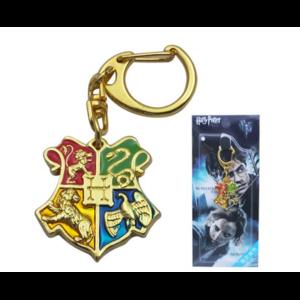 Брелок для ключей Aliexpress HARRY POTTER Hogwarts Logo Golden Metal Key Chain Cosplay Hot фото