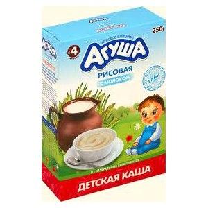 Каша Агуша рисовая с молоком фото