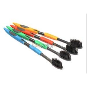 Зубная щетка Aliexpress EA14 4PCS Double Ultra Soft Toothbrush Bamboo Charcoal Nano Brush Oral Care фото