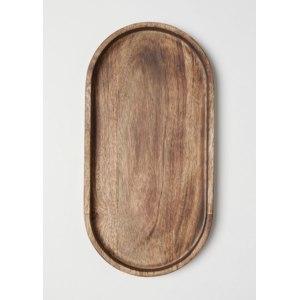 Поднос H&M Большой овальный деревянный с ботиками  фото