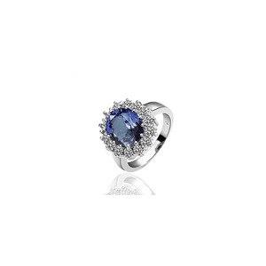 Кольцо Aliexpress Fashion Women's Platinum Plated Ring with Austrian Crystal & Cubic Zirconia Ring Jewelry Princess Diana Engagement Wedding Ring фото