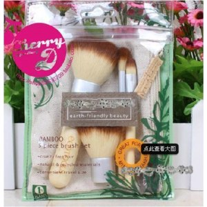 Кисти для макияжа Aliexpress Beauty Bamboo Cosmetic Makeup Brush Eyeliner Powder Eyebrow Blusher Eco Tool Bag фото