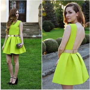 Платье AliExpress elastic belts dress women summer sleeveless backless chiffon dresses фото