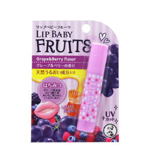 Бальзам для губ Mentholatum Lip Baby Fruits со вкусом винограда и лесных ягод фото