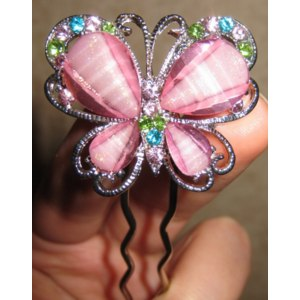 Шпильки Aliexpress Rhinestone Colorful Butterfly Hair Sticks Hairwear Hair Ornaments For Women Fashion фото