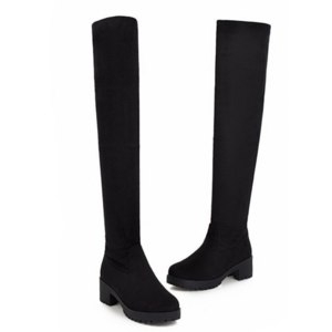 Ботфорты Aliexpress Boots Women Shoes Stretch Long Over The Knee Boots Womens Winter Booties Thigh High Boots Heeled Shoe Woman Boots Red Booties фото
