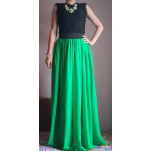 Юбка AliExpress SUNSHINY Original 2015 New 3 M Large Hem Long Lining Excellent Maxi Skirt Floor Length Plus Size Pleated Chiffon Skirt AS-8 фото