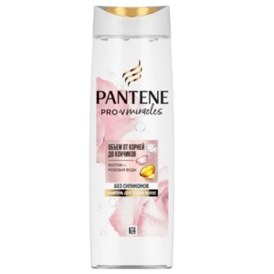 Шампунь для тонких и слабых  волос Pantene Pro-V Rose Miracles объем от корней до кончиков 300 мл фото