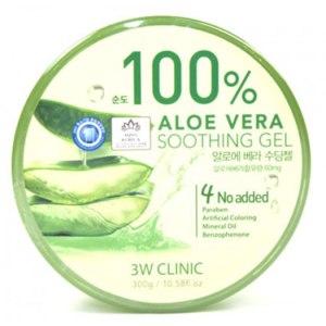 Гель 3W Clinic 100 % aloe vera soothing gel  фото