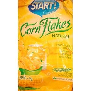 Сухие завтраки START! Кукурузные хлопья натуральные фото