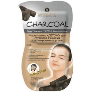 Маска-пленка для кожи лица Skinlite ДЕТОКС для глубокого очищения с активированным углем фото