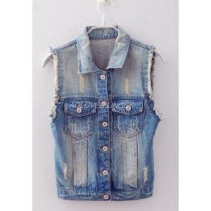 Жилет AliExpress New arrival women fashion windproof jeans vest wholesale demin clothes plus size always fashion sleeveless фото