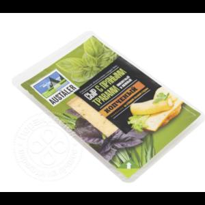 Сыр Austaler копченый с пряными травами 45% 150г фото