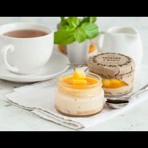 Десерт NapoleonCake Чизкейк с манго в банке фото