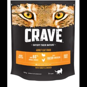 """Корм для кошек  Сухой корм для взрослых кошек Crave """"Курица и Индейка"""" фото"""