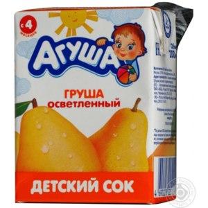 Сок Агуша Груша осветленный фото