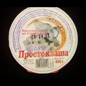 Кисломолочные продукты Старожиловский молочный комбинат Простокваша фото
