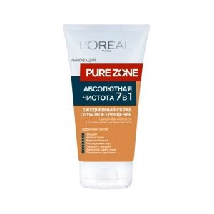 "Скраб для лица L'Oreal Pure Zone ""Абсолютная чистота 7в1""  фото"