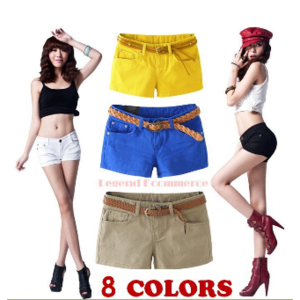 Шорты AliExpress 2013 spring summer fashion new women's casual fashion wild Slim solid color shorts women short pants Low Freight фото