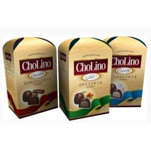 Шоколадные конфеты Золотой трюфель ChoLino Creamy сливочная начинка фото