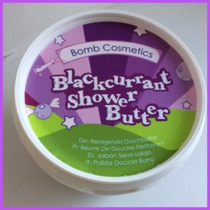 Твердое масло для душа Bomb Cosmetics Blackcurrant Cleansing Shower Butter фото