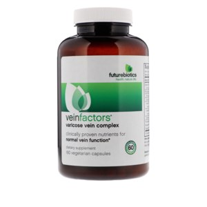 БАД Futurebiotics VeinFactors, Комплекс при варикозном расширении вен, 180 вегетарианских капсул фото