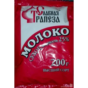 "Сухое молоко ""Славная трапеза"" фото"