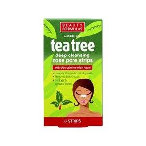 Очищающие полоски для носа Beauty Formulas Tea tree фото