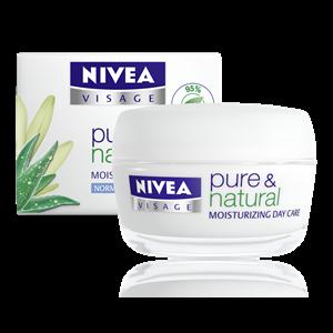 Крем для лица NIVEA Pure & Natural для нормальной и комбинированной кожи фото