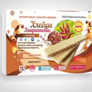 Хлебцы ООО «Кубанские хлебцы» Амарантовые с гречихой фото